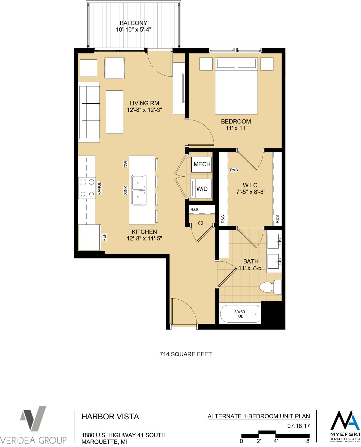 Alternate 1 Bedroom - 714 sq ft